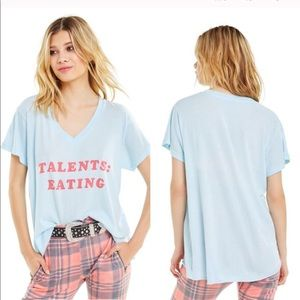 """Wildfox """"Talents: Eating"""" Graphic Tee—XS"""